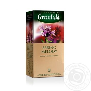 Чай Greenfield чорний Spring Melody 25шт*1.5г - купити, ціни на Метро - фото 1