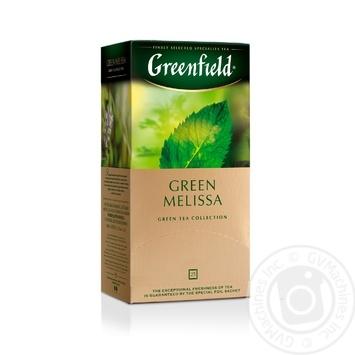 Чай Greenfield зелений Green Melisa 25шт*1.5г - купити, ціни на Метро - фото 1