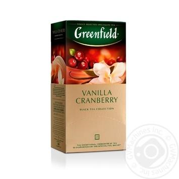 Чай Greenfield черный Vanilla Cranberry 25шт*1.5г