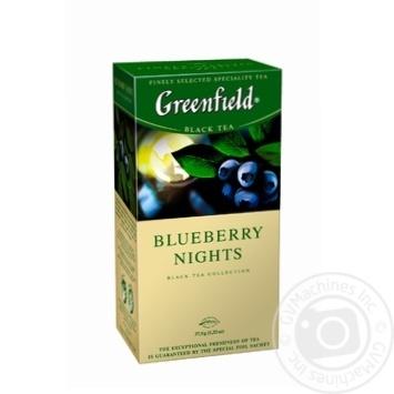 Чай черный Greenfield Blueberry Nights 25шт*1,5г 37,5г - купить, цены на Novus - фото 2