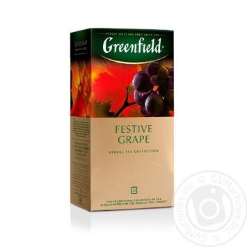 Чай Гринфилд Фестив Грейп травяной со вкусом и ароматом винограда 2г х 25шт - купить, цены на Novus - фото 1