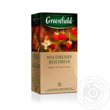 Чай Greenfield Wildberry Rooibos травяной с кусочками земляники и клюквы в пакетиках 25*1,5г