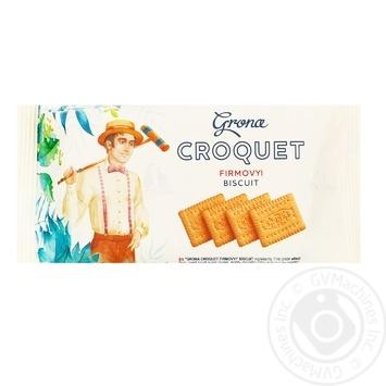 Печенье Грона Крокет 72г - купить, цены на Ашан - фото 1