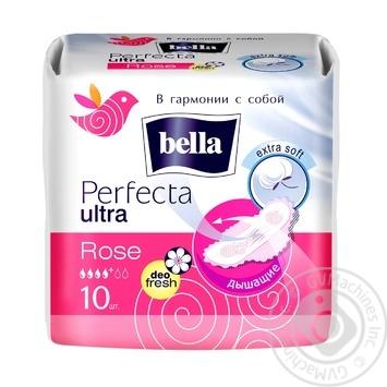 Прокладки гигиенические Bella Perfecta Ultra Rose 10шт - купить, цены на Novus - фото 3