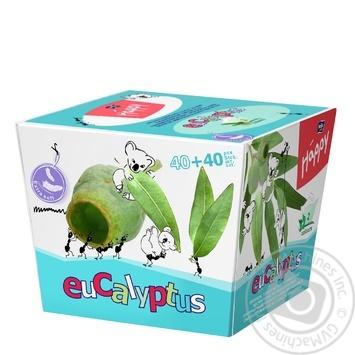Хустинки паперові унiверсальні двошарові Bella Baby Happy 40+40шт ароматом эвкалипта - купить, цены на Novus - фото 4