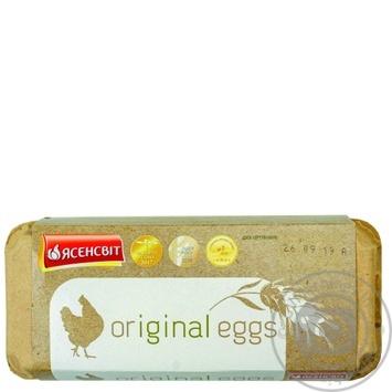 Яйца куриные Ясенсвит Original eggs С0 10шт - купить, цены на Метро - фото 1