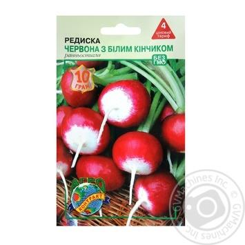 Насіння Агроконтракт Редиски Червона з білим кінчиком 10г - купити, ціни на Фуршет - фото 1