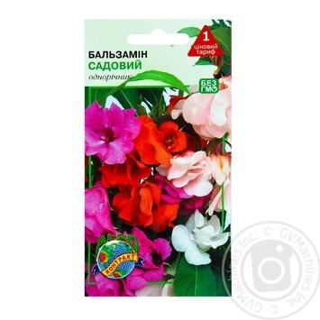 Семена Агроконтракт Цветы Бальзамин 0,5г - купить, цены на МегаМаркет - фото 1