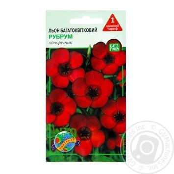 Семена Агроконтракт Цветы Лен многоцветковый 0,3г - купить, цены на МегаМаркет - фото 1