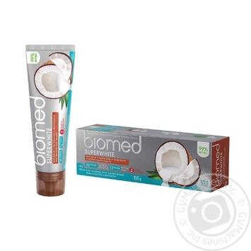 Зубна паста BioMed Superwhite захист від бактерій та карієсу 100мл - купити, ціни на ЕКО Маркет - фото 3