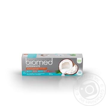 Зубная паста BioMed Superwhite защита от бактерий и кариеса 100мл - купить, цены на ЕКО Маркет - фото 2