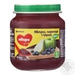 Milupa Apple, Blueberry, Pear For Children From 6 Month Fruit Puree 125g