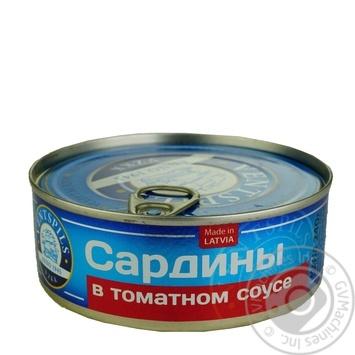 Сардины Ventspils в томатном соусе 240г - купить, цены на Ашан - фото 1