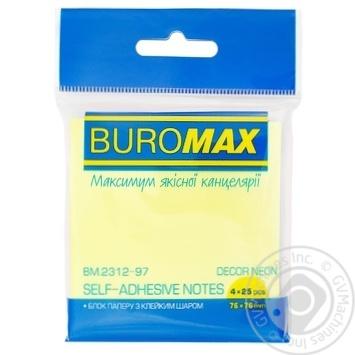 Блок бумаги Buromax  для заметок 100 листов 76Х76см - купить, цены на СитиМаркет - фото 1