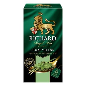 Чай зеленый Richard Royal Melissa в пакетиках 25шт*1.8г - купить, цены на Ашан - фото 4