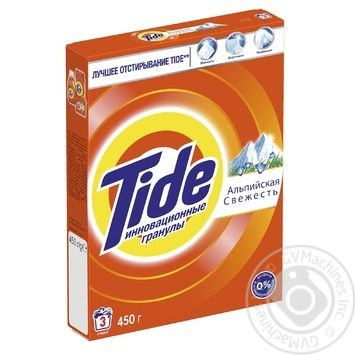 Tide Alpine Fresh Automat Laundry Powder Detergent 450g - buy, prices for Novus - image 3