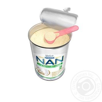 Смесь молочная Nestle Nan 2 Кисломолочный сухая для детей с 6 месяцев 400г - купить, цены на Novus - фото 4