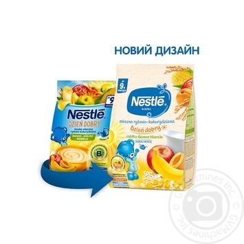 Молочная каша Nestle Рис кукуруза с яблоком бананом и абрикосом 230г - купить, цены на Фуршет - фото 2