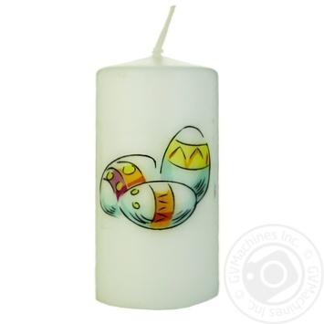 Свеча Пасха 5*10см - купить, цены на Ашан - фото 1