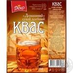 Квас Деко Домашний сухой хлебный 200г - купить, цены на Varus - фото 2