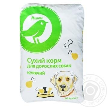 Сухий корм Ашан для дорослих собак курячий 10кг - купити, ціни на Ашан - фото 1