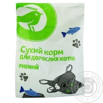 Сухий корм Ашан для дорослих котів рибний 400г - купити, ціни на Ашан - фото 1