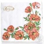 Серветки La Fleur двошарові 33х33,2см 20шт