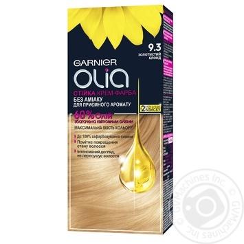 Крем-краска для волос Garnier Olia без аммиака 9.3 золотистый блонд 112мл
