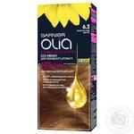 Крем-краска для волос Garnier Olia без аммиака 6.3 золотистый шатен 112мл