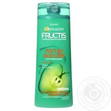 Шампунь Garnier Fructis Рост во всю длину укрепляющий для ослабленных волос склонных к выпадению 400мл - купить, цены на Восторг - фото 1