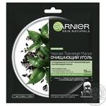 Маска Garnier Skin Naturals Очистительный Уголь и черный чай 28г