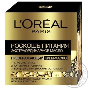 Крем-масло для лица L'oreal Paris Роскошь питания 50мл - купить, цены на Novus - фото 1