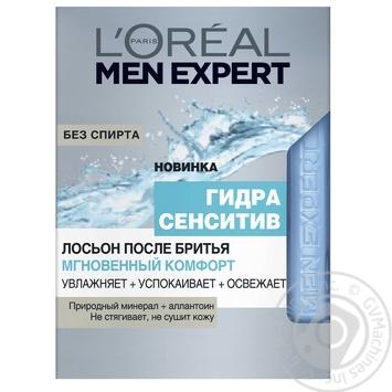 Лосьйон після гоління L'oreal Paris Men Expert Гідра Сенситів Миттєвий Комфорт 100мл - купити, ціни на Novus - фото 1