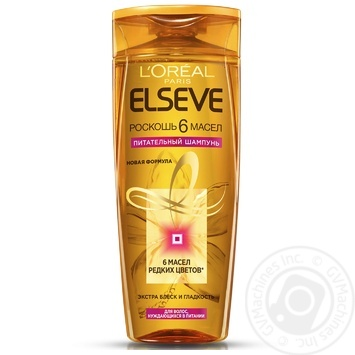 Шампунь Elseve Роскошь 6 масел питательный для всех типов волос 400мл - купить, цены на МегаМаркет - фото 1