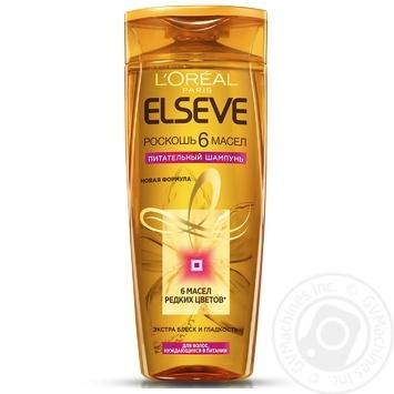 Elseve Shampoo Luxury 6 oils nourishing oils for all hair types 400ml - buy, prices for  Vostorg - image 1