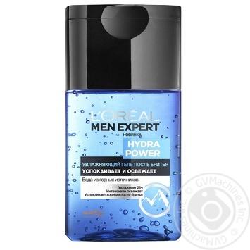 Гель після гоління L'oreal Paris Men Expert Hydra Power зволожуючий з освіжаючим ефектом 125мл - купити, ціни на МегаМаркет - фото 1
