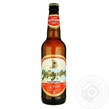 Пиво Жигулевское светлое непастеризованное 4.2%об. 500мл - купить, цены на Ашан - фото 1