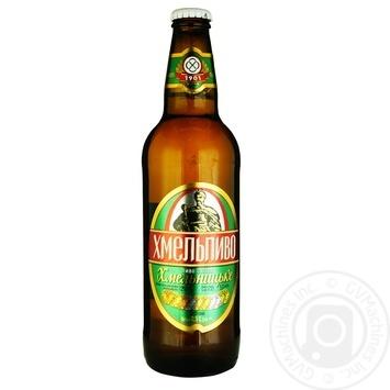 Пиво Хмельпиво Хмельницкое светлое 4,5% 0,5л - купить, цены на Фуршет - фото 2