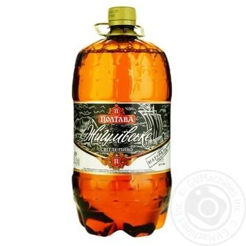 Пиво Полтава Жигулівське світле 4,4% 1,5л - купити, ціни на Ашан - фото 1