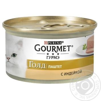 Корм GOURMET Gold Паштет С индейкой для взрослых кошек 85г - купить, цены на Novus - фото 1