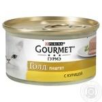 Корм GOURMET Gold Паштет З куркою для дорослих котів 85г