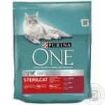 Корм сухий Purina ONE Sterilcat З яловичиною та пшеницею для кастрованих котів/стерилізованих кішок 800г