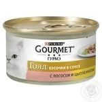 Gourmet With Chicken And Salmon Canned For Cats Food - buy, prices for Tavria V - image 1