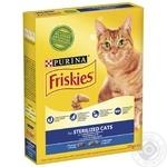 Корм сухий Friskies Sterilised З лососем та овочами для стерилізованих кішок та кастрованих котів 270г - купити, ціни на Novus - фото 1