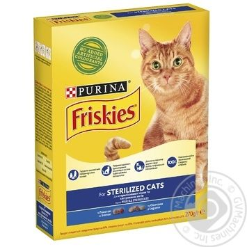 Friskies With Salmon Dry For Sterilised Cats Food - buy, prices for Tavria V - image 1