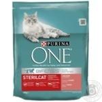 Корм сухий Purina ONE Sterilcat З лососем та пшеницею для кастрованих котів та стерилізованих кішок 800г