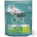 Корм сухий Purina ONE Indoor З індичкою та цільними злаками для дорослих котів 800г