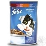 Корм Felix Fantastic Duo с индейкой и печенью в желе 100г - купить, цены на Таврия В - фото 1