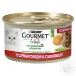 Gourmet Natural Recipes Cat Food Stewed Beef with Carrots 85g