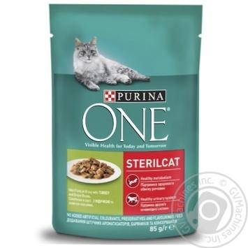 Корм Purina One Sterilcat з індичкою та зеленою квасолею для котів 85г - купити, ціни на ЕКО Маркет - фото 1